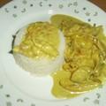 Poulet au curry, lait de coco et noix de cajou