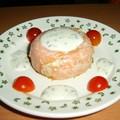 Timbale de saumon à la mousse de courgette