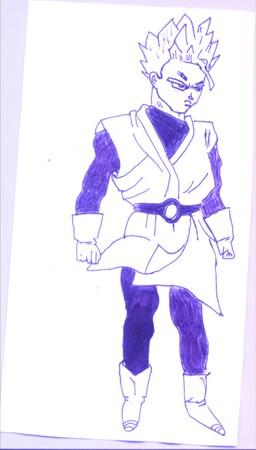 Un de mes dessin dragon ball z gt af - Dessin sangohan ...