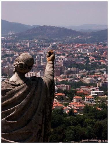 Vue de Braga à partir du Bom jesus