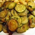 Courgettes sautees