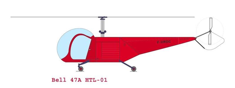 Maquette vectorielle du Bell 47A