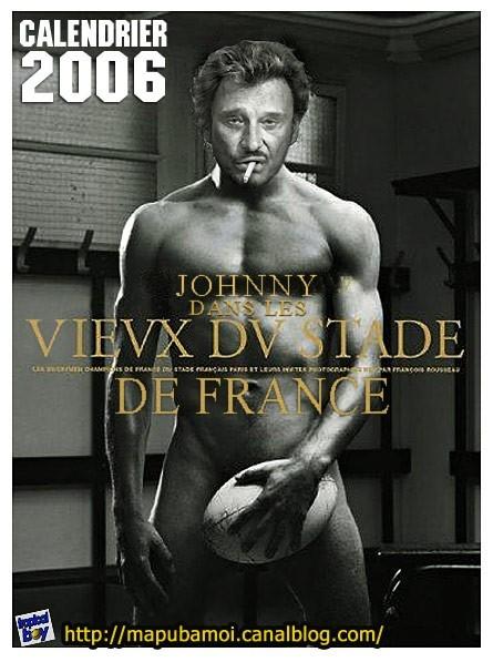 Johnny, vieux du stade de France ( calendrier 2006)