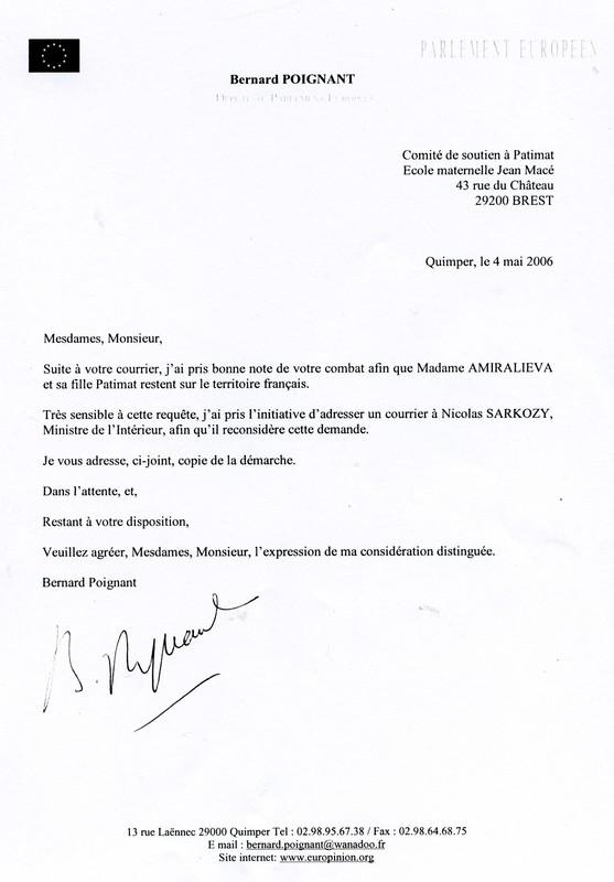 LE 4 MAI Mr BERNARD POIGNANT DEPUTE AU PARLEMENT EUROPEEN