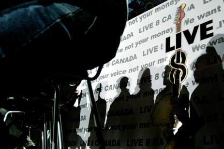 Live 8 - Madonna dans Pack live81