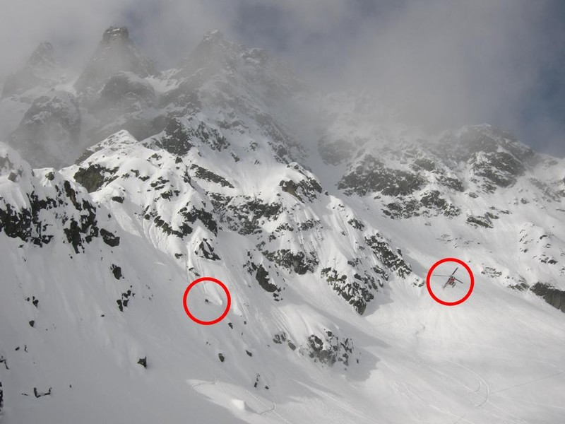skieur emerite et helicoptere