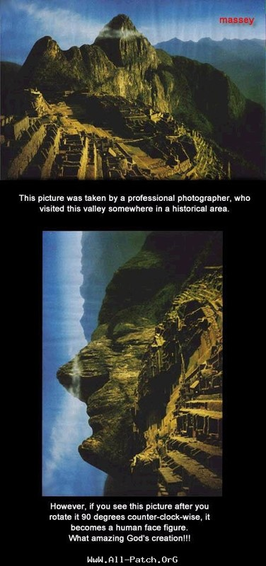 une montagne qui souris vers son dieu