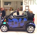 More of the Blue smART car by Sokazo at the Smart Center