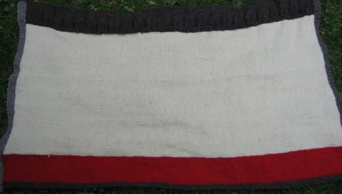 Merinos hand spun knit blanket