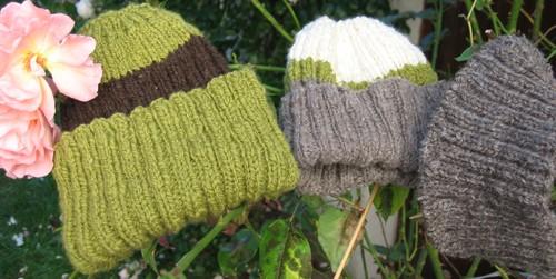Les gros bonnets laine filée main