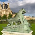 Le Louvre, vue des Tuileries - View of the Louvre museum from the Jardin des Tuileries