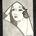 Kalender 1991: Mai und Art Deco Frau