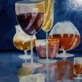 Stilleben: Weinprobe
