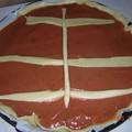 tarte rhubarbe/fraise