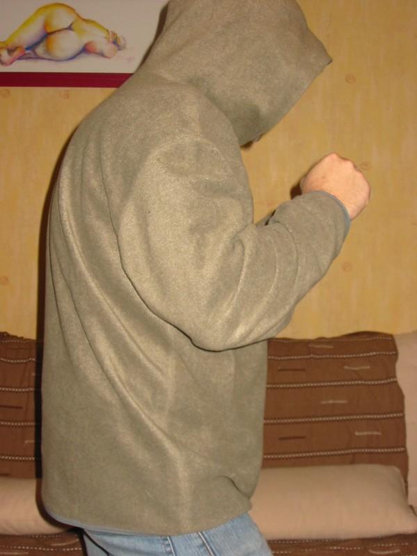 Sweat Jersey Kaki Capuche
