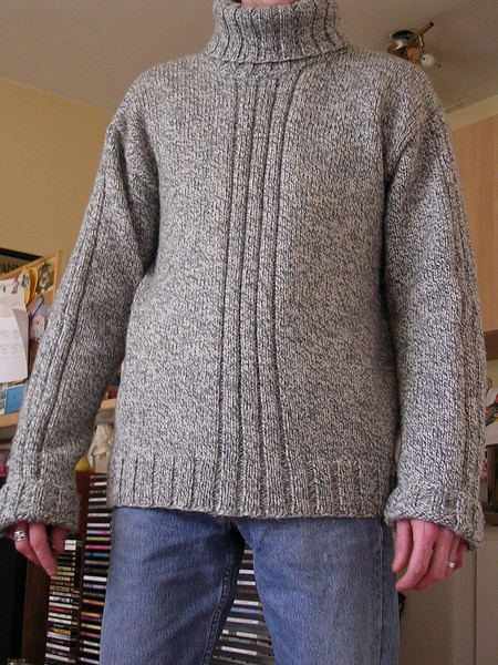 tricoter un pull homme modele