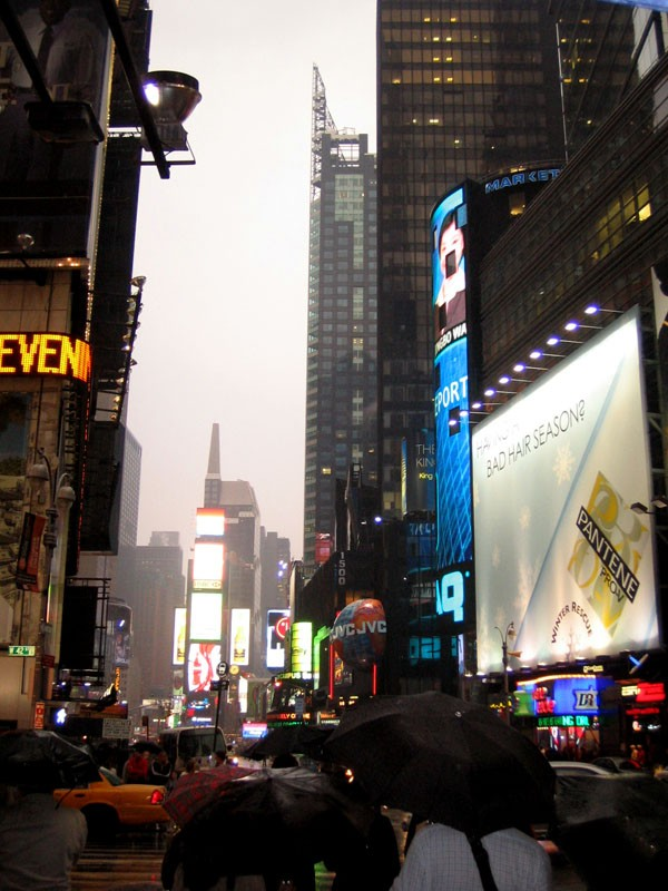 Blade Runner? Ou Times Square sous la pluie?