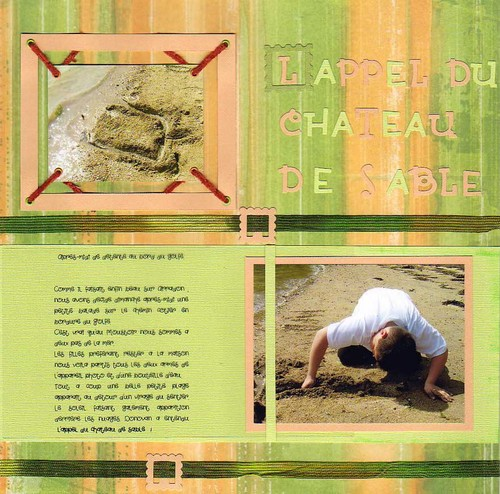 L'appel du chateau de sable