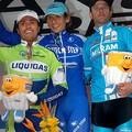 Podium Milan-San Remo: Paolini-Pozzato-Petacchi