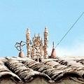 Quinua : une des eglises miniatures qui ornent tous les toits du