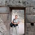 Vallée sacrée des Incas : Pisac, porte du site avec la cavité se