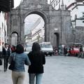 Cuzco : une rue de la ville ...