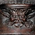 Lima : detail d'une chaire dans l'eglise