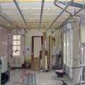 Rails mis en place pour le faux plafond