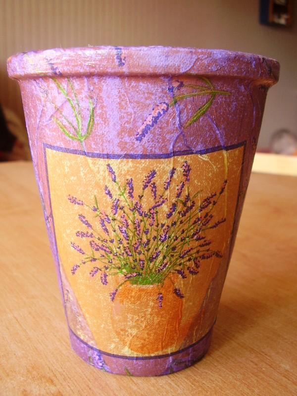 serviettage(pot a fleurs)