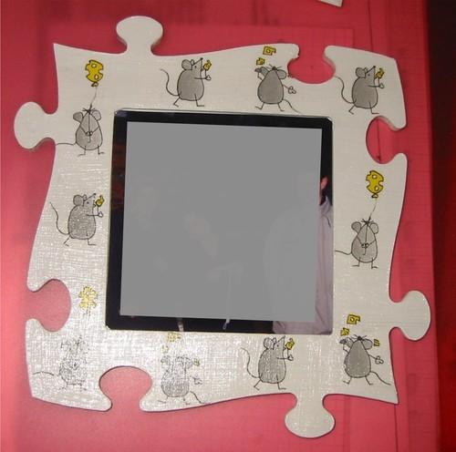 cadre puzzle souris